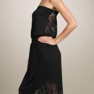 Chatoyant Lace Back Maxi Dress USA made